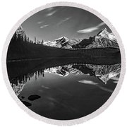 On The Trail Bw Round Beach Towel