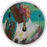 Once Upon A Planet Round Beach Towel