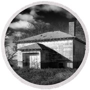 One Room Schoolhouse 2 Round Beach Towel