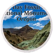 Oregon - John Day Fossil Beds National Monument Blue Basin Round Beach Towel