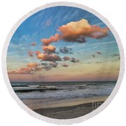 Ormond Beach Sunset Round Beach Towel