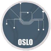 Oslo Subway Map Round Beach Towel
