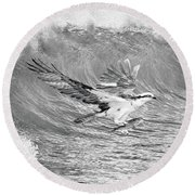 Osprey The Catch Bw Round Beach Towel