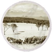 Outback And Beyond Round Beach Towel