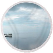 Outer Banks Pamlico Sound Mirror Round Beach Towel