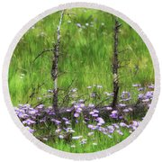 Overcome With Beauty Round Beach Towel by Rick Furmanek