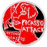 Pablo Picasso Attack 6 Round Beach Towel