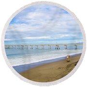 Pacifica Municipal Pier - California Round Beach Towel