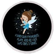 Pacifier Fairy Gift Idea Paci Fairy For Girlsboys Round Beach Towel