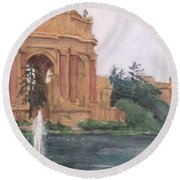 Palace Of Fine Arts, 2018 Round Beach Towel