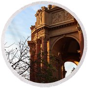 Palace Of Fine Arts At Sunset Round Beach Towel