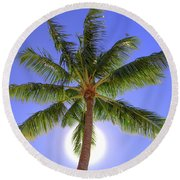 Palm Tree Sun Round Beach Towel by Patti Deters
