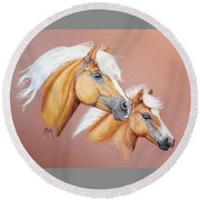 Palomino Pair Round Beach Towel