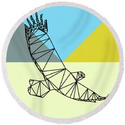 Party Eagle Round Beach Towel