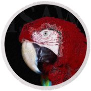 Patchwork Parrot Round Beach Towel by ISAW Company
