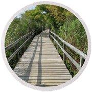 Path To Unknown Round Beach Towel
