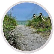 Pathway To The Beach Round Beach Towel