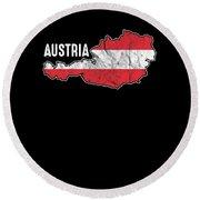 Patriotic Austria Flag Austrian Patriotism Nationalism Round Beach Towel