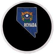 Patriotic Nevadan Nevada Flag Nationalism Usa America Round Beach Towel
