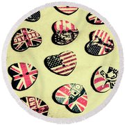 Patriotic Picks Round Beach Towel