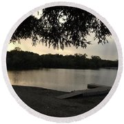 Peaceful Sunset At The Park Round Beach Towel