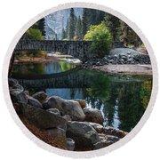 Peaceful Yosemite Round Beach Towel