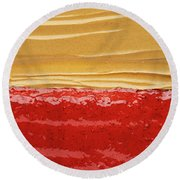Peanut Butter And Jelly Round Beach Towel