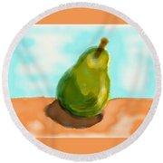 Pear Round Beach Towel