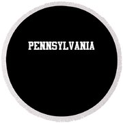 Pennsylvania Round Beach Towel