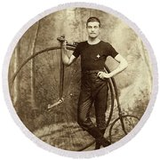 Penny Farthing - High Wheel - Ordinary   Round Beach Towel