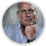 Pensive Paul Round Beach Towel