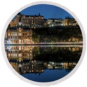 Perfect Sodermalm Blue Hour Reflection Round Beach Towel