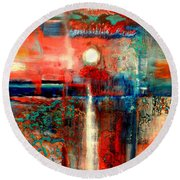 Perspex Round Beach Towel