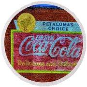 Petalima's Drink Coca-cola Round Beach Towel