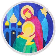 Peter And Fevronia Of Murom Round Beach Towel