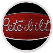 Peterbilt Emblem Black Round Beach Towel