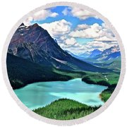 Peyto In August Round Beach Towel