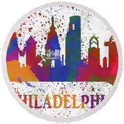 Philly Color Splash Round Beach Towel