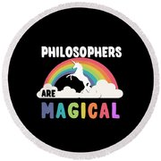 Philosophers Are Magical Round Beach Towel