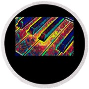 Piano Keys Musican Player Music Notes Gift Color Design Round Beach Towel