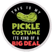 Pickle Costume Funny Apparel Round Beach Towel