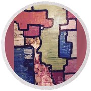 Pieces Of The Puzzle Round Beach Towel