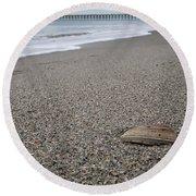 Pier Seashell Round Beach Towel