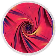 Pinch And Twist   5 Round Beach Towel
