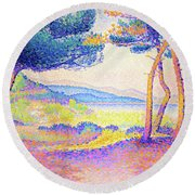 Pines Along The Shore - Digital Remastered Edition Round Beach Towel