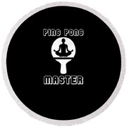 Ping Pong Master Great Table Tennis Round Beach Towel