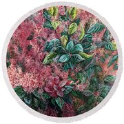 Pink Infusion Round Beach Towel