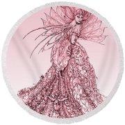 Pink Sussurus Round Beach Towel