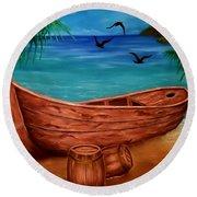 Pirates' Story Round Beach Towel