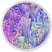 Pixie Forest Round Beach Towel